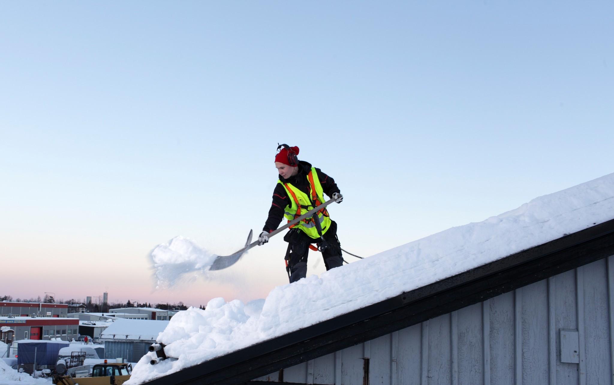 Snöskottning tak